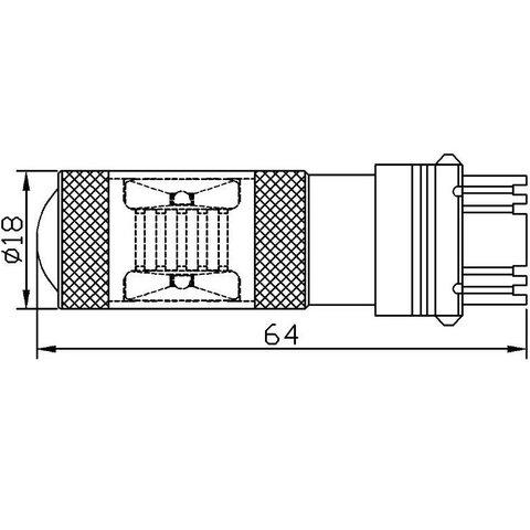 LED лампа гальмування/заднього ходу UP-7G-3156WB-30W (біла, 12-24 В) Прев'ю 2
