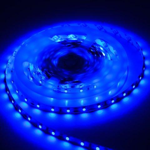 Світлодіодна стрічка SMD3528 (синя, 60 світлодіодів, 12 В DC, 1 м, IP20) Прев'ю 1