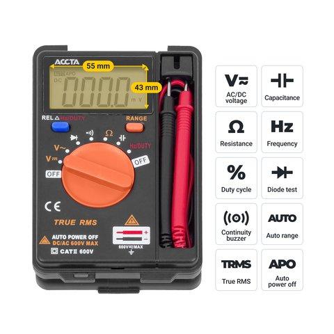 Кишеньковий цифровий мультиметр Accta AT-110 Прев'ю 2